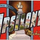 YPSILANTI, Michigan large letter linen postcard Kropp