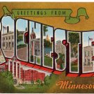 ROCHESTER, Minnesota large letter linen postcard Kropp