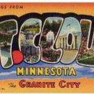 ST. CLOUD, Minnesota large letter linen postcard Teich