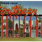 SOUTHERN MINNESOTA large letter linen postcard Teich