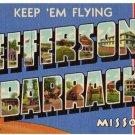 JEFFERSON BARRACKS, Missouri large letter linen postcard Teich