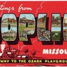 JOPLIN, Missouri large letter linen postcard Teich
