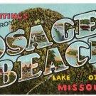 OSAGE BEACH, Missouri large letter linen postcard Teich