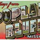 POPLAR BLUFF, Missouri large letter linen postcard Teich