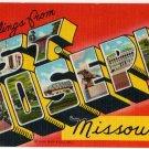 ST. JOSEPH, Missouri large letter linen postcard Teich