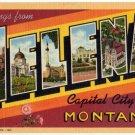 HELENA, Montana large letter linen postcard Teich