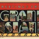 GRAND ISLAND, Nebraska large letter linen postcard Teich