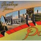 HAZELTON, Pennsylvania large letter linen postcard Tichnor