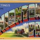 UNIONTOWN, Pennsylvania large letter linen postcard Curt Teich