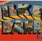 WILKES BARRE, Pennsylvania large letter linen postcard Tichnor