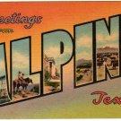 ALPINE, Texas large letter linen postcard Colourpicture