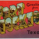 FORT STOCKTON, Texas large letter linen postcard Colourpicture