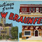 NEW BRAUNFELS, Texas large letter linen postcard Kropp