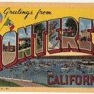 MONTEREY, California large letter linen postcard Teich