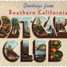 SOUTHERN CALIFORNIA POSTCARD CLUB large letter linen postcard Teich