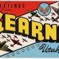 KEARNS, Utah large letter linen postcard Kropp