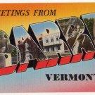 BARRE, Vermont large letter linen postcard Tichnor