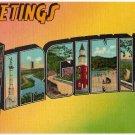 VIRGINIA large letter linen postcard Eastern Photo