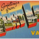 FORT LEE, Virginia large letter linen postcard Tichnor