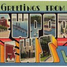 NEWPORT NEWS, Virginia large letter linen postcard Tichnor