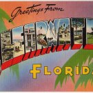 CLEARWATER, Florida large letter linen postcard Tichnor