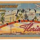 PENSACOLA, Florida large letter linen postcard Tichnor