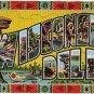 WISCONSIN DELLS large letter linen postcard Kropp