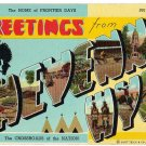 CHEYENNE, Wyoming large letter linen postcard Teich