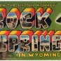 ROCKS SPRINGS, Wyoming large letter linen postcard Teich