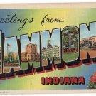 HAMMOND, Indiana large letter linen postcard Teich