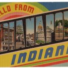 INDIANAPOLIS, Indiana large letter linen postcard Eastern Photo