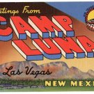 CAMP LUNA, New Mexico large letter linen postcard Teich