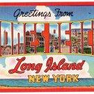 JONES BEACH, New York large letter linen postcard Colourpicture