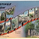 NEW HAMPSHIRE large letter linen postcard Tichnor
