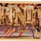 TRENTON, New Jersey large letter linen postcard Dexter
