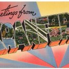 CRANFORD, New Jersey large letter linen postcard Tichnor