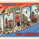 CIUDAD JUAREZ, Mexico large letter linen postcard Teich