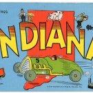 INDIANA large letter linen postcard Kropp