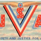 USA military large letter linen postcard Tichnor