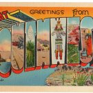 Great SOUTHWEST large letter linen postcard