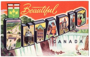 ONTARIO, Canada large letter postcard