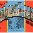 GALESBURG, Illinois large letter linen postcard Kropp
