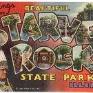 STARVED ROCK STATE PARK, Illinois large letter linen postcard Teich