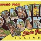STARVED ROCK STATE PARK, Illinois large letter linen postcard Kropp