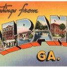 ALBANY, Georgia large letter linen postcard Tichnor