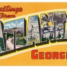 ATLANTA, Georgia large letter linen postcard Colourpicture