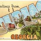 DOUGLAS, Georgia large letter postcard Teich