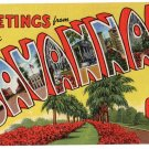 SAVANNAH, Georgia large letter linen postcard Teich