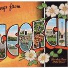 GEORGIA large letter linen postcard Kropp