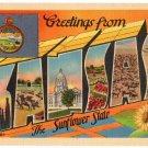 KANSAS large letter linen postcard Metropolitan